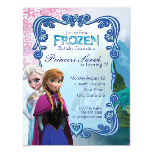 Frozen Birthday Party Invitation at Zazzle