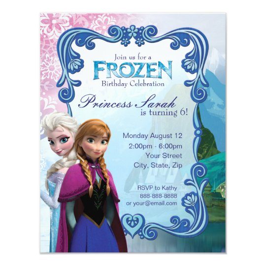 Frozen Birthday Party Invitation Zazzle Com