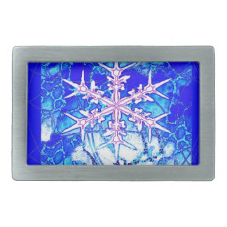 Frozen Blue icy Snowflake Gifts by Sharles Art Belt Buckle