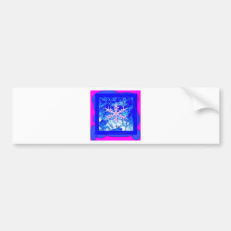Frozen Blue icy Snowflake Gifts by Sharles Art Bumper Sticker