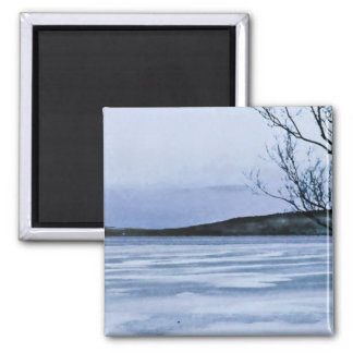 Frozen Blue Lake Magnet