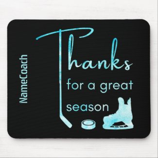 Frozen blue - Thanks Season hockey coach Mouse Pad