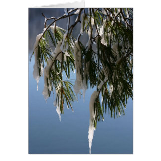 Frozen Branch Greeting Cards
