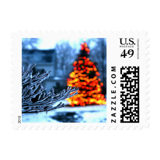Frozen Branches on Christmas Postage