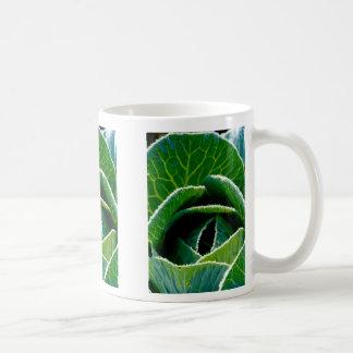 Frozen cabbage coffee mug