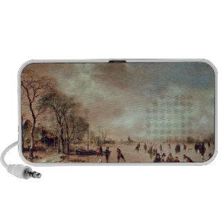 Frozen Canal Scene Portable Speakers