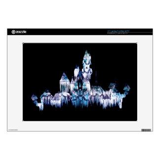"""Frozen Castle - Snowflakes 15"""" Laptop Skin"""