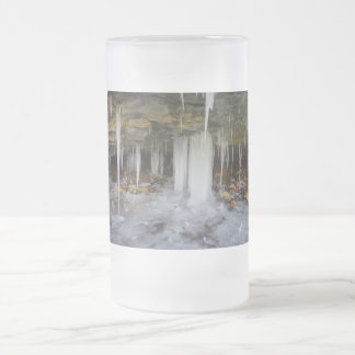 Frozen Cave Frosted Glass Beer Mug