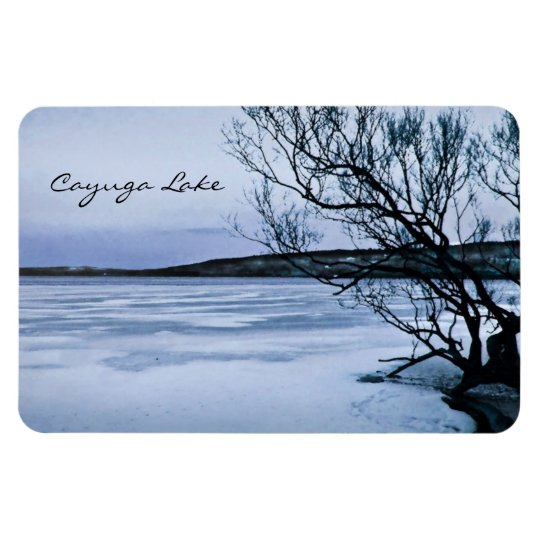 Frozen Cayuga Lake Magnet