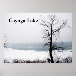 FROZEN CAYUGA LAKE print