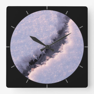 Frozen chasm square wall clock