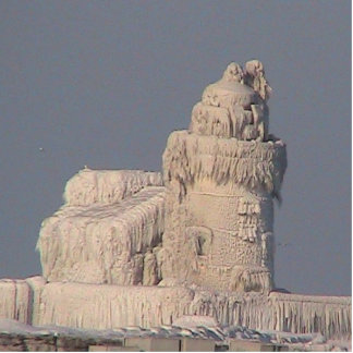 Frozen Cleveland Lighthouse Statuette