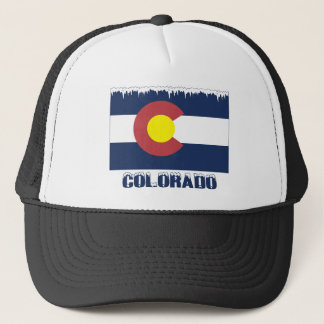 Frozen Colorado Flag Trucker Hat