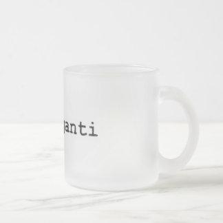 Frozen cup logo in fraganti mug