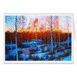 Frozen Dalarna Stream Stationery Note Card
