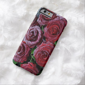 Frozen Dark Red Roses On A Grave Barely There iPhone 6 Case