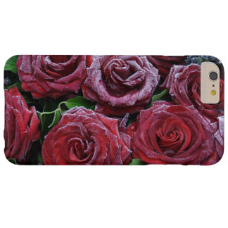 Frozen Dark Red Roses On A Grave Barely There iPhone 6 Plus Case