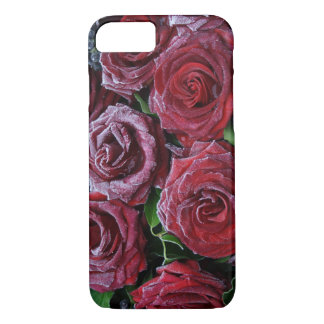 Frozen Dark Red Roses On A Grave iPhone 7 Case