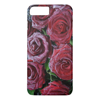 Frozen Dark Red Roses On A Grave iPhone 7 Plus Case