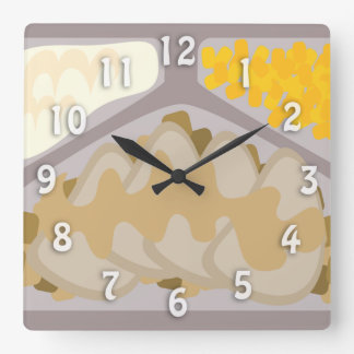Frozen Dinner Time Square Wall Clock