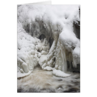 Frozen Doane's Falls in winter, Royalston MA Card