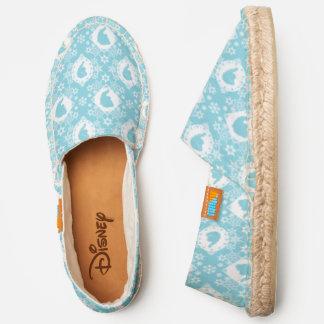 Frozen |  Elsa and Anna Snowflake Cameo Pattern Espadrilles