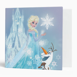 Avery Signature 1' Binder with Snow Queen Elsa and Olaf design