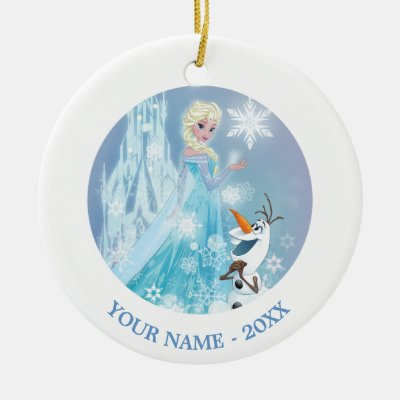 frozen elsa and olaf icy glow postcard zazzlecom - Elsa Christmas Decoration