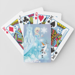 Playing Cards with Snow Queen Elsa and Olaf design