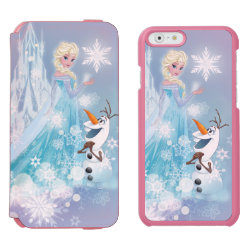 Incipio Watson™ iPhone 6 Wallet Case with Snow Queen Elsa and Olaf design