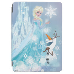 iPad Air Cover with Snow Queen Elsa and Olaf design