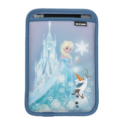iPad Mini Sleeve with Snow Queen Elsa and Olaf design