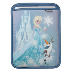 iPad Sleeve with Snow Queen Elsa and Olaf design