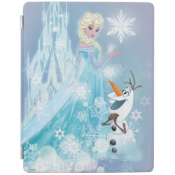 iPad 2/3/4 Cover with Snow Queen Elsa and Olaf design