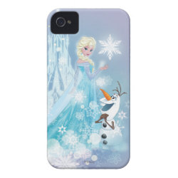 Case-Mate iPhone 4 Barely There Universal Case with Snow Queen Elsa and Olaf design