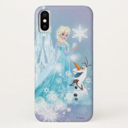 Case-Mate Barely There iPhone X Case with Snow Queen Elsa and Olaf design