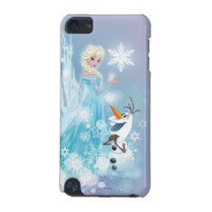 Frozen   Elsa And Olaf - Icy Glow Ipod Touch (5th Generation) Cover at Zazzle