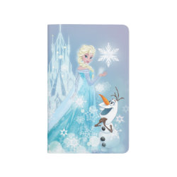Pocket Journal with Snow Queen Elsa and Olaf design