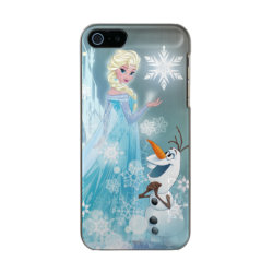 Frozen | Elsa and Olaf - Icy Glow Metallic Phone Case For iPhone SE/5/5s