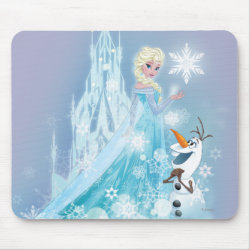 Mousepad with Snow Queen Elsa and Olaf design