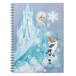 Photo Notebook (6.5' x 8.75', 80 Pages B&W) with Snow Queen Elsa and Olaf design