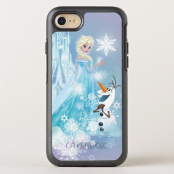 OtterBox Apple iPhone 7 Symmetry Case with Snow Queen Elsa and Olaf design