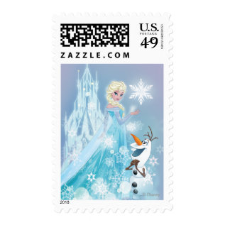 Frozen | Elsa And Olaf - Icy Glow Postage at Zazzle