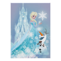 Frozen | Elsa and Olaf - Icy Glow Poster at Zazzle