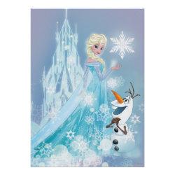 Matte Poster with Snow Queen Elsa and Olaf design