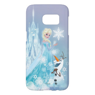 Frozen | Elsa and Olaf - Icy Glow Samsung Galaxy S7 Case