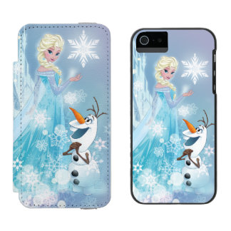 Frozen | Elsa and Olaf - Icy Glow Wallet Case For iPhone SE/5/5s