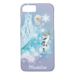 Frozen | Elsa and Olaf - Icy Glow | Your Name iPhone 8/7 Case