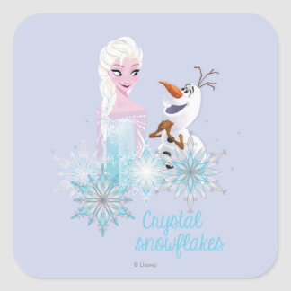 Frozen | Elsa and Olaf Square Sticker