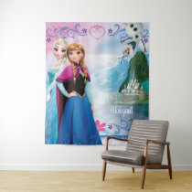 Frozen | Elsa, Anna, and Olaf Arendelle Name Tapestry